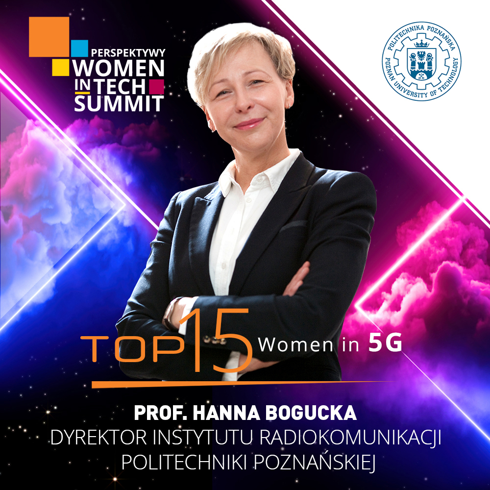 Prof. Hanna Bogucka on the list of Top 15 Women in 5G